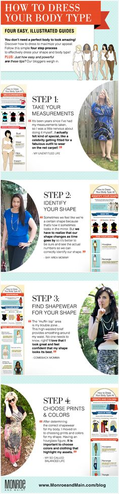 How to Dress Your Body Type Blogger Event & Infographic Series from Monroe and Main.  #DressYourBodyType