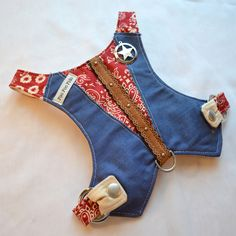Dog Harness - Cowboy Baby Harness Vest in Berry de FooFooFido en Etsy https://www.etsy.com/es/listing/188439659/dog-harness-cowboy-baby-harness-vest-in