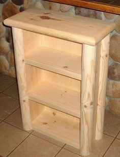 Charmant Log Bookcase Rustic Pine Log Furniture By TnTwoodwerks On Etsy