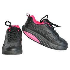 amazing Twisted Womens Toner Athletic Stylish Shape up Sneaker - Black, Size 9