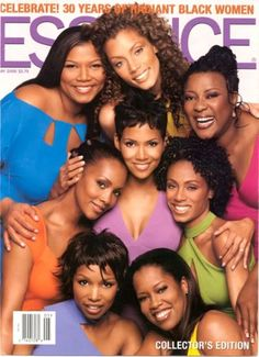 Queen Latifah, Michael Michele, Loretta Divine, Vivica Fox, Halle Berry, Jada Pinkett-Smith, Elise Neal & Regina King on the cover of Essence magazine