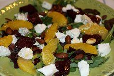 Салат из маринованной свеклы, апельсина и козьего сыра – Вся Соль - кулинарный блог Ольги Баклановой