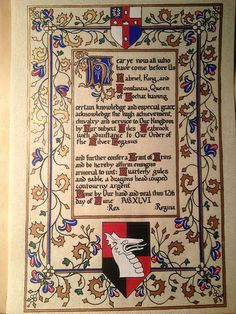 2012: Preprint (calligraphy only) Giles Leabrook - OSP by Lochac Scribes, via Flickr
