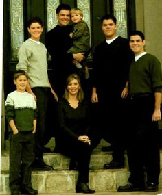 Donny and Debbie Osmond with their family