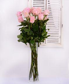 Nádherné vysoké ružové ruže Titanic.  #beautifulflowers #pinkroses #superise #deliveryflowers #kvetyexpres Glass Vase, Roses, Home Decor, Decoration Home, Pink, Room Decor, Rose, Home Interior Design, Home Decoration