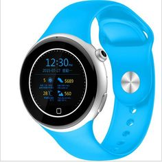 Smart Watch Bluetooth Phone Mate Sim Card Round Touch Screen for IOS Android. Waterproof Sports Bracelet Smart Watch Blood Pressure Heart Rate for iOS Android. Waterproof Sports Smart Watch Heart Rate Blood Pressure Monitor for iOS Android. Iphone 4, Apple Iphone, Watch For Iphone, Ios Phone, Sport Watches, Cool Watches, Casual Watches, Smartwatch Bluetooth, Smartwatch Waterproof