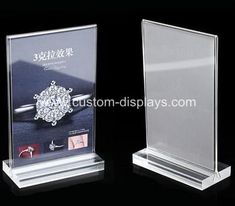 Office & School Supplies Responsible Acrylic Tabletop Menu Display Stand Menu Holder Desk Sign Menu Counter Display Stand Acrylic Block Frame Picture Photo Frame Fine Quality Card Holder & Note Holder
