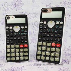 Camo Series Scientific calculator Design hard White Skin Case Cover for Apple iPhone 7 6 6s Plus SE 5c 5 5s 4 4s