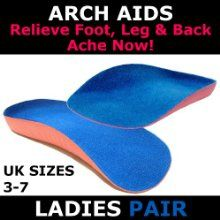 Arch Aids - The No 1 Foot Arch Support - Pair - Length Orthotic Insole - Ladies Size - The Ultimate Insoles To Support Weak And Fallen Arches from GreatIdeas - Crack Heel - http://crackheel.com/arch-aids-the-no-1-foot-arch-support-pair-length-orthotic-insole-ladies-size-the-ultimate-insoles-to-support-weak-and-fallen-arches/