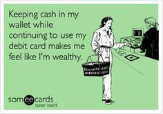 this is so true, even if it's only like 3 one dollar bills.
