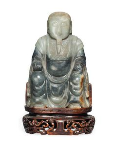 A Grey Jade Model Of Zhen Wu, Ming Dynasty (1368-1644). Photo Christies