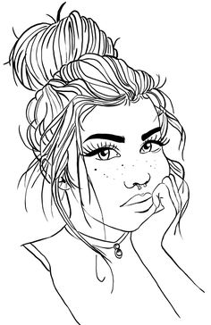 Tumblr Coloring Pages, People Coloring Pages, Detailed Coloring Pages, Coloring Pages For Girls, Cute Coloring Pages, Disney Coloring Pages, Coloring Pages To Print, Free Printable Coloring Pages, Coloring Books