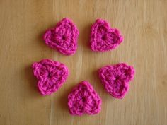Fiber Flux...Adventures in Stitching: Free Crochet Pattern: Tiny One Round Hearts!