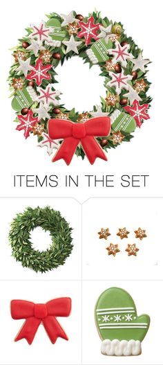 """""""Cookie Wreath"""" by alzjunkyard ❤ liked on Polyvore featuring art"""