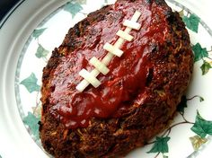 Superbowl Meatloaf Football
