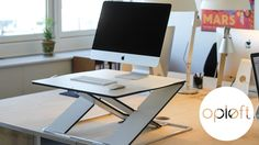 OPLØFT - A slim work surface that transforms any table into a height-adjustable sit stand desk.