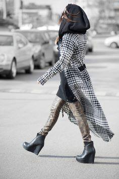 Wool hooded vest, Long hooded women vest, Plus size maxi vest for women, Winter long vest designed by EUG FASHION - VE0018WL by EUGfashion on Etsy