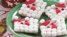 Santa grahams- Kids would love to make these! more things to do with the marshmallows
