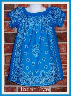 Clever use of Bandanas into an adorable Peasant Dress