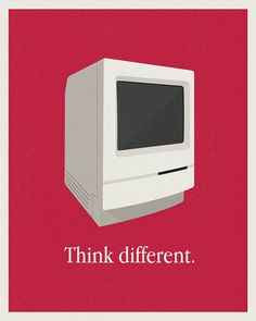 "It's ""think differently."" Morons."