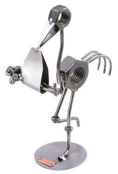 Geschenk zur Geburt - Schraubenfigur Storch