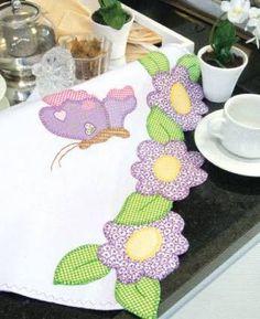 Resultado de imagen para pano de prato em patchwork com vaso de flores