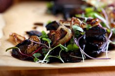 Olives for Dinner | Recipes for the Ethical Vegan: Miso-Scented Portobello with Garlic Cauliflower Mash