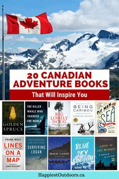 This list of adventure books about Canada is sure to inspire you. Read about rock climbers, cyclists, environmentalists, and remote expeditions in Canada and by Canadian authors. This collection of outdoor books celebrates everything Canadian. Choose one of these Canadian books about adventure for your next read. Adventure Books, Adventure Travel, Columbia Outdoor, Ontario Travel, Travel Books, Canadian Rockies, Cyclists, Reading Room, Outdoor Adventures
