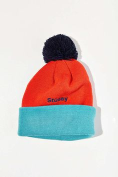 f7249a9a40d Slide View  2  Stussy Helvetica Pompom Beanie Luggage Accessories