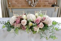Sassy Blooms - Stunning Handmade Bouquets and Event Flowers Table Flower Arrangements, Large Floral Arrangements, Beautiful Flower Arrangements, Flower Centerpieces, Wedding Centerpieces, Wedding Top Table Flowers, White Roses Wedding, Diy Wedding Bouquet, Floral Wedding