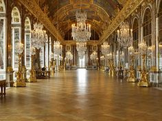 The hall of mirrors in Versalles - The gardens are equally amazing as the inside of Versalles