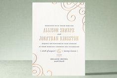 Delano Letterpress Wedding Invitations by Oscar & Emma at minted.com