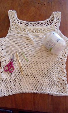 Ravelry: Aestas Top pattern by Anna Erlandsson Crochet Cardigan Pattern, Crochet Tunic, Crochet Clothes, Knit Crochet, Crochet Patterns, Crochet Tank Tops, Crochet Summer Tops, Knitted Slippers, Top Pattern