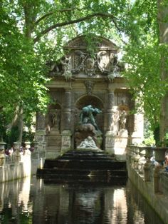 Medici fountain at Luxembourg Gardens in Paris