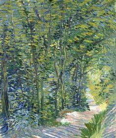 Vincent van Gogh, Forest trail