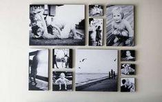 Decorare le pareti con foto - Decorare casa con le foto