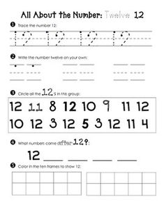 As a Kinder teacher, I know how important penmanship and number recognition is…