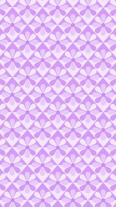 Phone wallpaper, background. 'pastel purple eight-petal flower' (5)