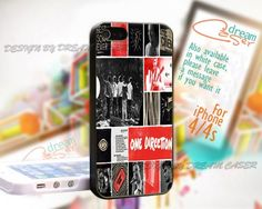 One Direction Collage - Print On Hard Case iPhone 4/4S Case