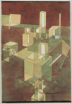 Paul Klee Italian City 1928 - Reproduction Oil Paintings