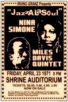 Nina Simone & Miles Davis Poster