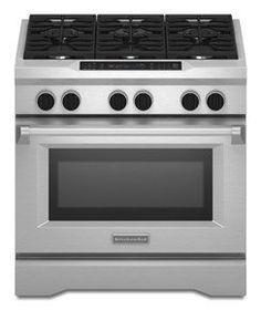 KitchenAid 36 In. Stainless Steel Dual Fuel Range - KDRS467VSS by KitchenAid, http://www.amazon.com/dp/B00834WFCQ/ref=cm_sw_r_pi_dp_jL.csb0TTMTQE