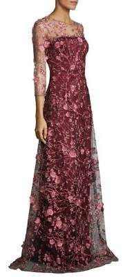David Meister Two-Tone Floral Floor-Length Gown #womensfashion #gowns #dresses (affiliate)