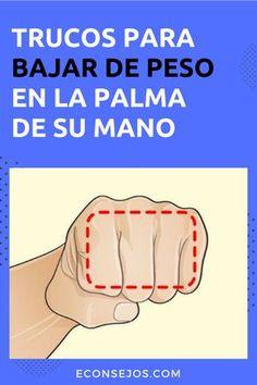 Cómo medir la cantidad de comida con las manos Les Chakras, Diabetes, Cardio, Remedies, Weight Loss, Health, Tips, Crochet, Yoga