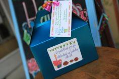 Decorating cookies and cupcakes at a Kookie Krums birthday party! #peacelovecookies