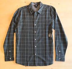 Volcom Men's Long Sleeve Button Up Shirt Shirt Outfit, Shirt Dress, Casual Shirts, Button Up Shirts, Men Casual, Buttons, Long Sleeve, Sleeves, Mens Tops