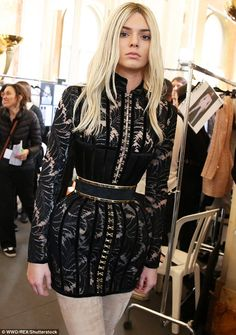 Is that you Gigi? On Thursday they walked the Balmain show. Kendall wore a blonde wig