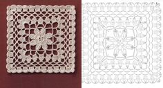 With crochet patterns you can knit that bedspread model, you always wanted to put on the bed. Crochet Vintage, Crochet Motifs, Embroidery, Rugs, Handmade, Home Decor, Elsa, Ideas, Crochet Bedspread