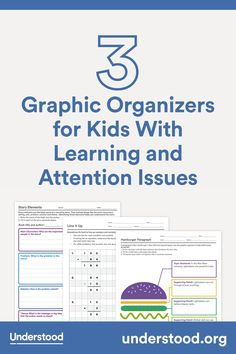 Graphic organizers are great tools to help kids break down assignments and keep track of thoughts in a visual way. These graphic organizers can help your child with reading, writing and math homework. Study Skills, Math Skills, Math Lessons, Graphic Organisers, Math Graphic Organizers, Mental Calculation, Math Homework Help, Dysgraphia, Fun Math Games
