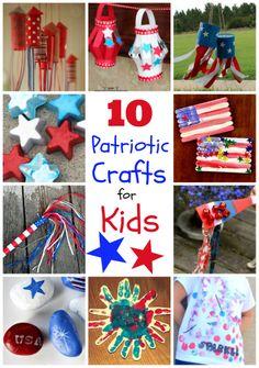10 Patriotic Crafts for Kids! #4thofjuly via @Sara {Mom Endeavors} @Right Start